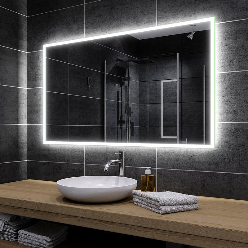 Details About Bathroom Mirror With Led Mirror With Lighting Wall Mirror To Measure Boston Promo Show Original Title