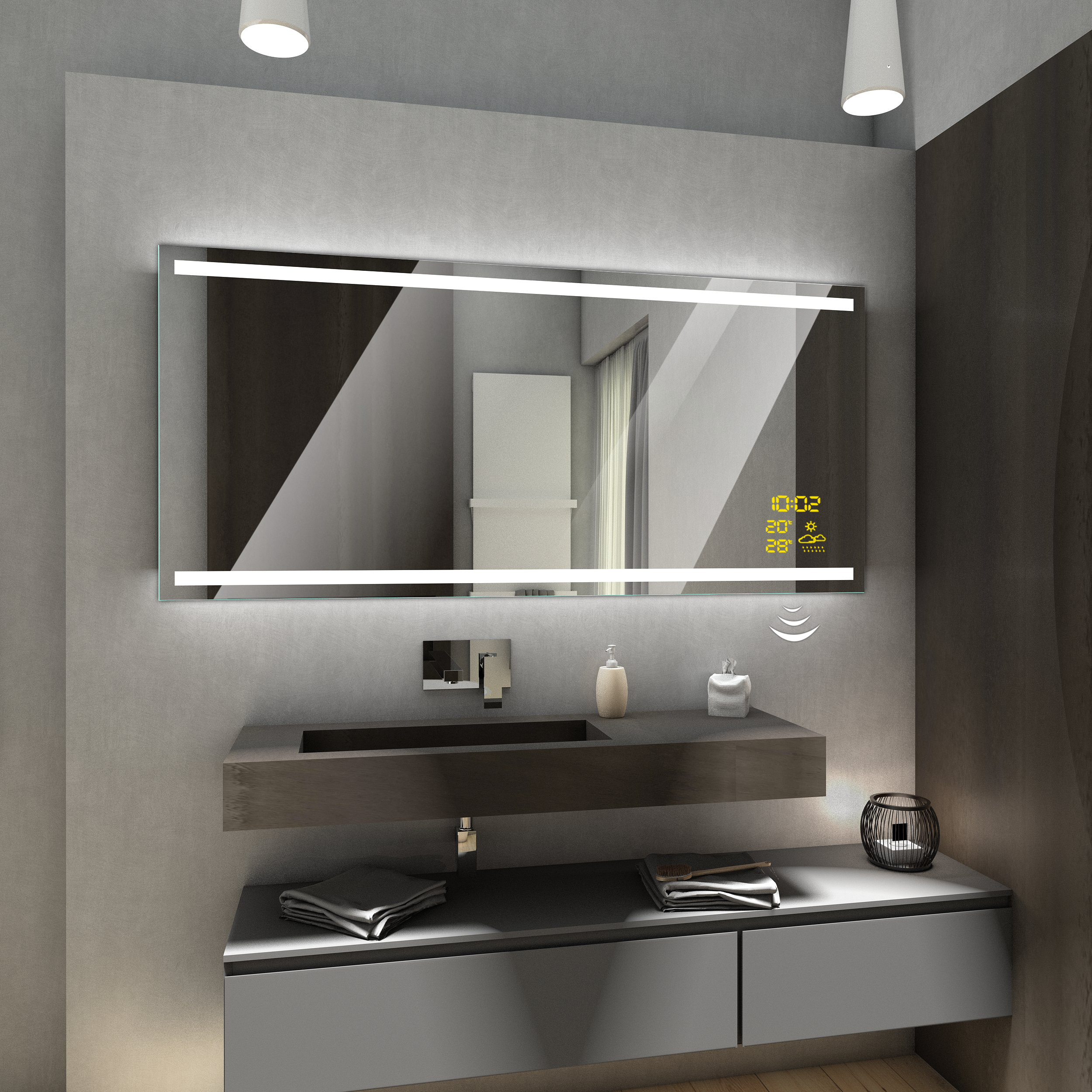 Modern Bathroom Mirror With Led Lighting