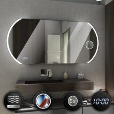 Lustra łazienkowe podświetlane zaokrąglone
