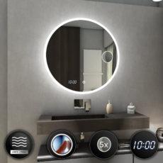 Lustra łazienkowe podświetlane okrągłe