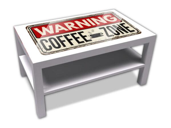 Warning coffe zone