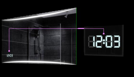Zegarek LED w Lustrze Podświetlanym