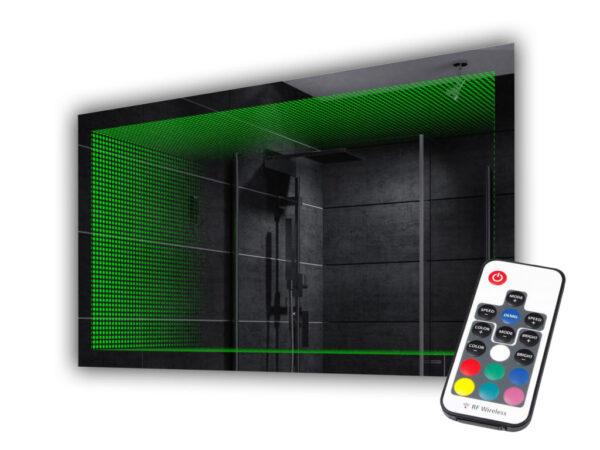 Lustro 3D zielony LED