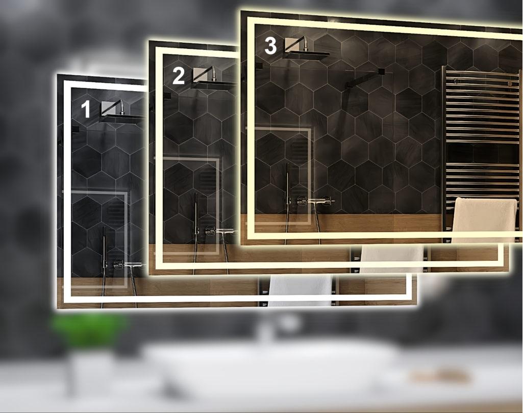 Barwa światła lustra łazienkowego zimne białe , neutralne białe, ciepłe białe